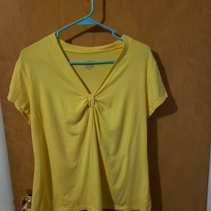 George knotted neckline top